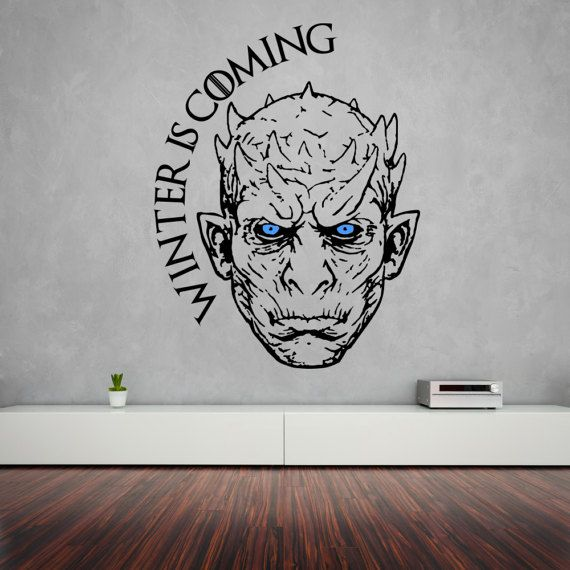 Night King Wall Sticker Game Of Thrones Vinyl Decal White
