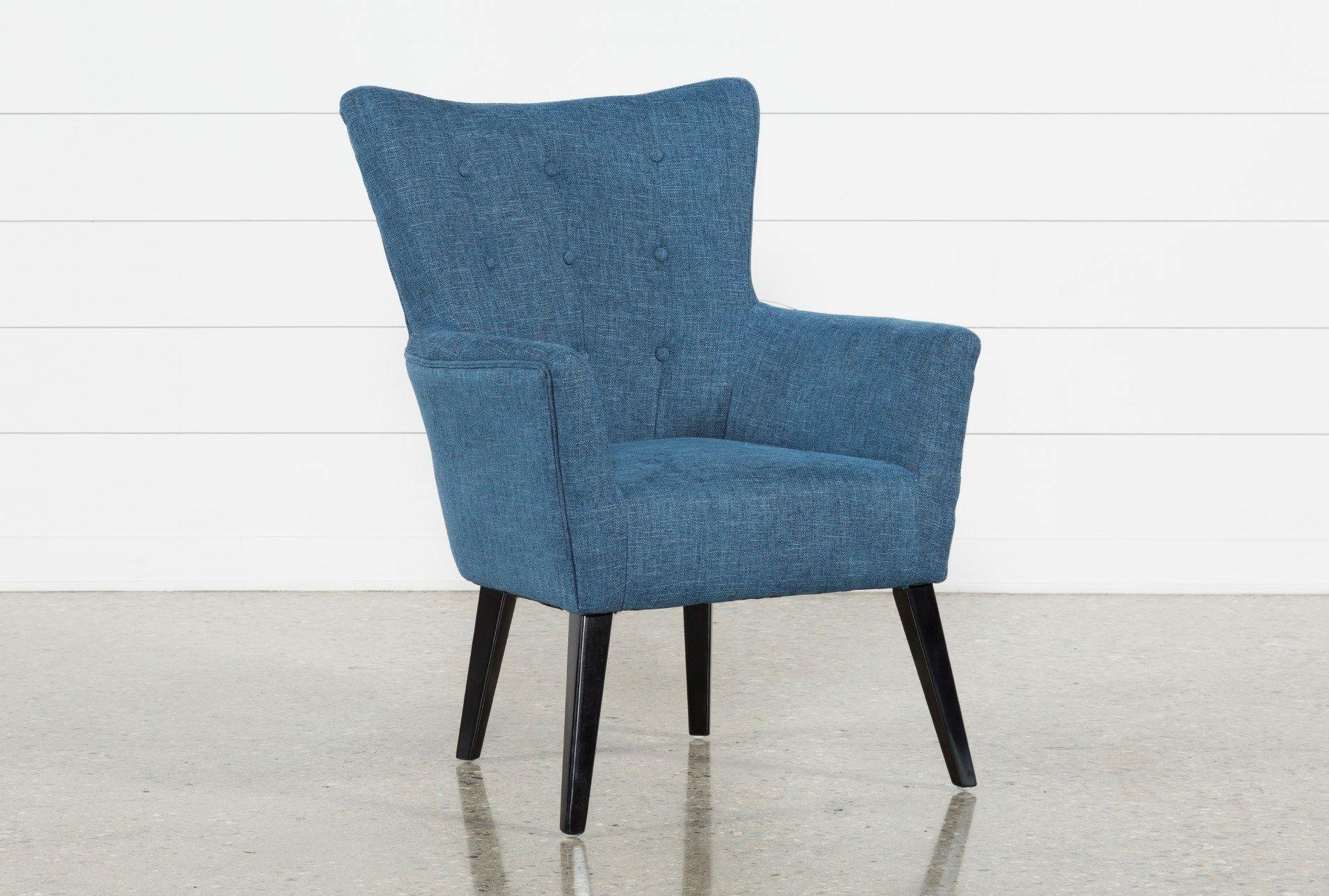 Best Kelsey Denim Blue Accent Chair Blue Accent Chairs 400 x 300