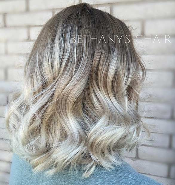 Balayage Long Bob Blonde