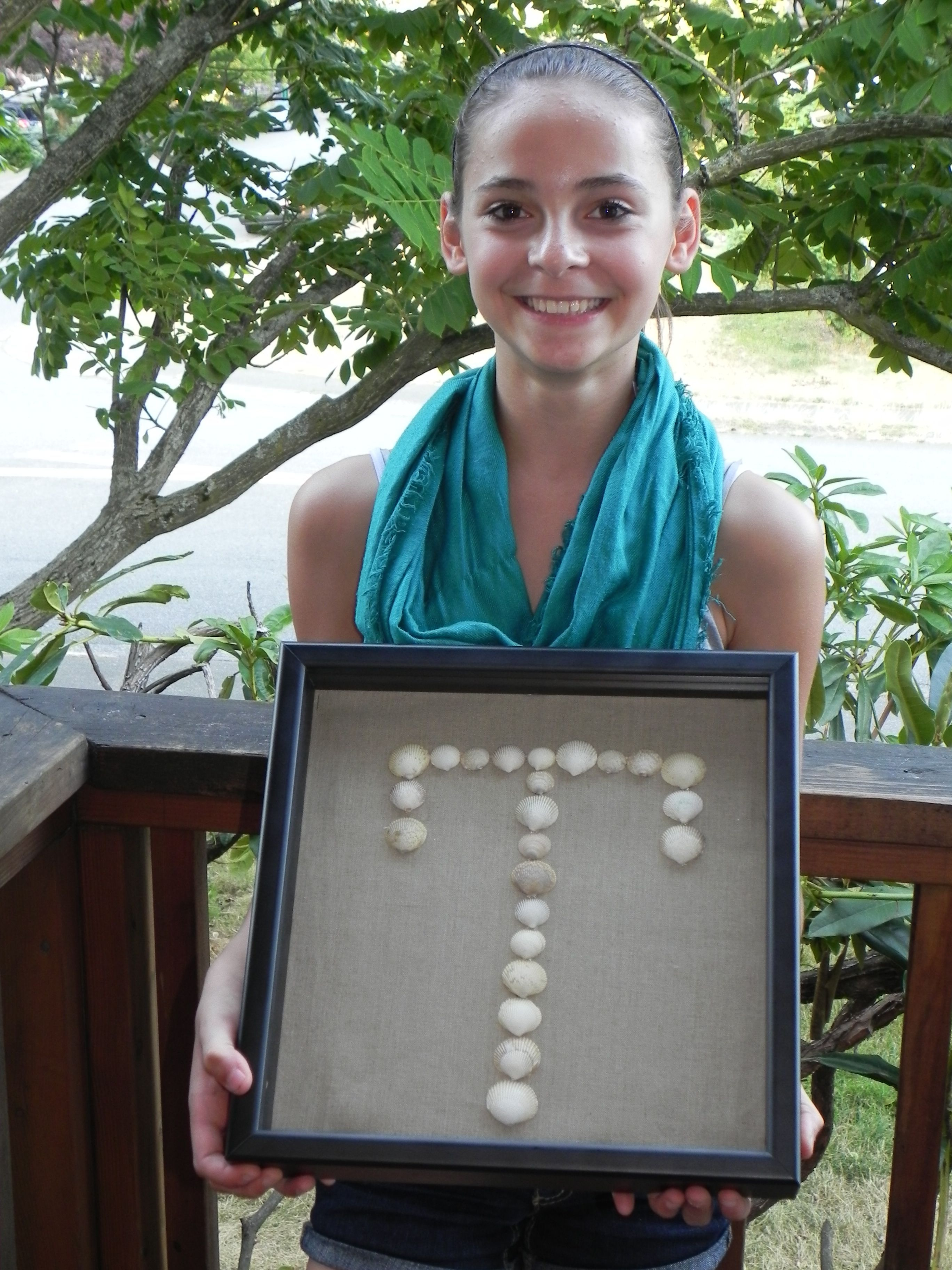Check out my latest project: Personalized Seashell Monograms.