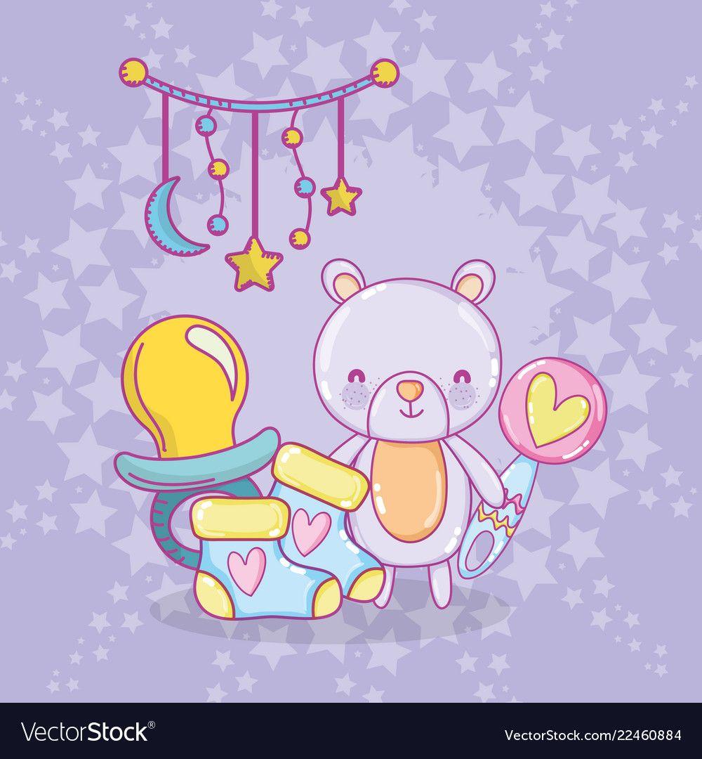 Baby shower cartoons vector image on (с изображениями