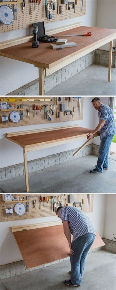 Plans of woodworking diy projects diy projects your garage needs plans of woodworking diy projects diy projects your garage needs diy folding bench work table do it yourself garage makeover ideas include sto solutioingenieria Gallery