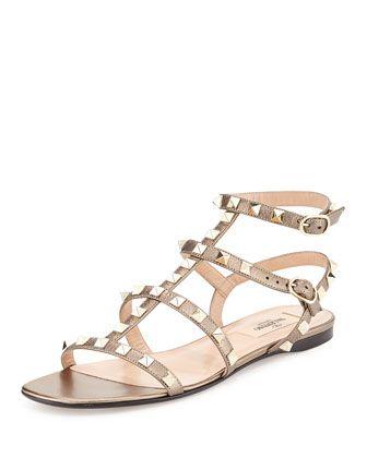 8e9881ee0eb0 Rockstud+Leather+Flat+Sandal