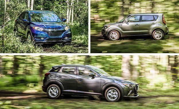 Mazda Cx 3 Awd Vs Fiat 500x Awd Honda Hr V Awd Jeep Renegade