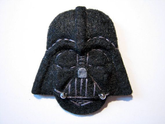 Star Wars Darth Vader Felt Brooch/Pin di ClockworkFishDesign ...