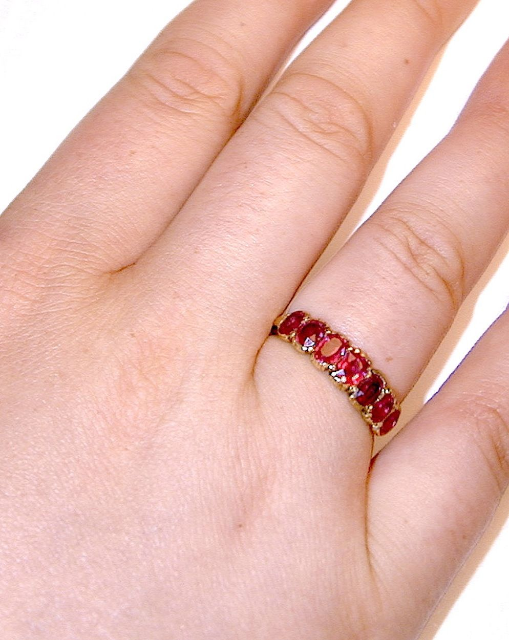 Antique Ruby Gold Ring | Band rings, Gold rings and Ring