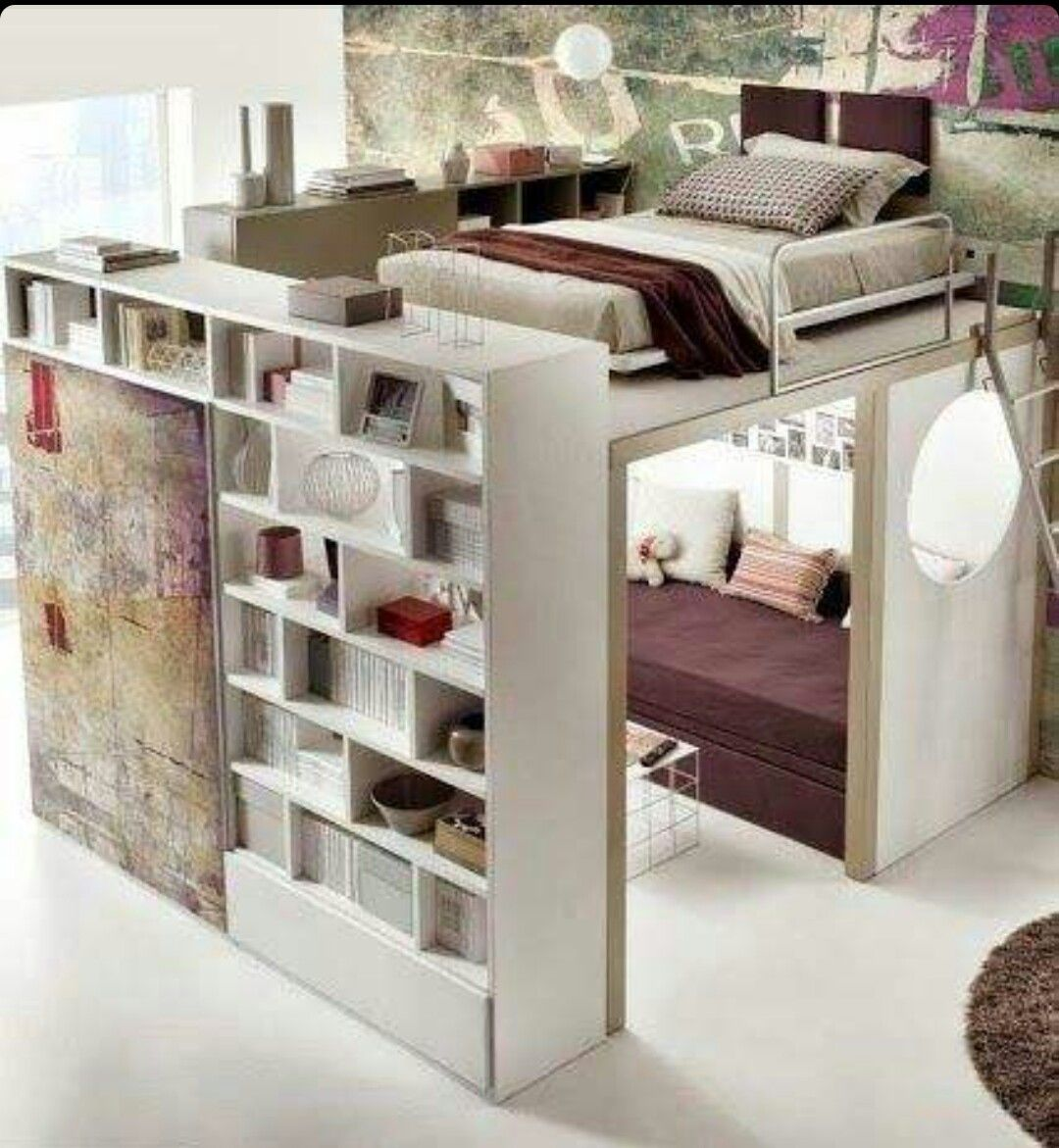 Loft bed privacy ideas  Pin by evichi on decoracion  Pinterest