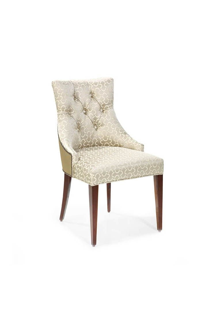 The Ivis Capiton Dining Chair Is Shown In Mahogany Wood With A  # Muebles Leblon Cordoba