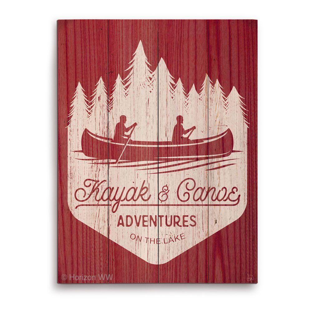 Kayak and canoe adventures warmu wooden wall graphic x