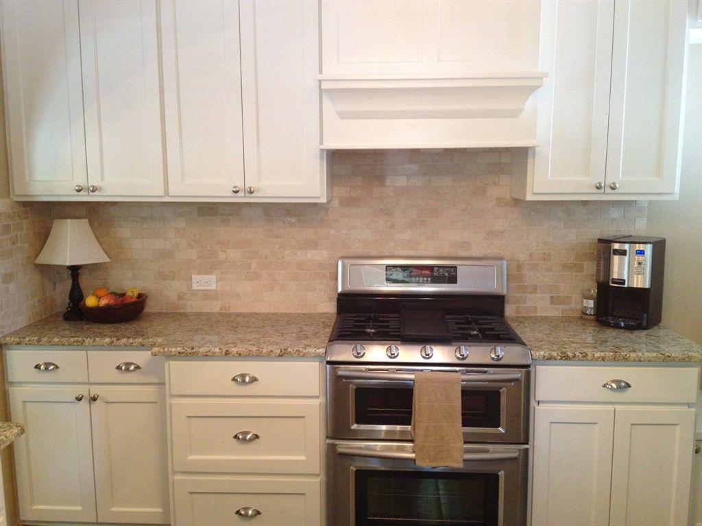 Superb Giallo Ornamental Granite Backsplash Ideas Part - 7: Giallo Fiorito Dark With Tile Backsplash Giallo Ornamental Granite