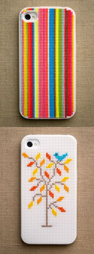 Inventive DIY Phone Cases Cross Stitch Case: This awesome kit comes with a silicone case with holes prepunched for your needle to go through, a guide to help you get started, 7 colors of thread, a needed, and a needle threader. We've always loved these little guys because the possibilities are endless. (via Amazon)