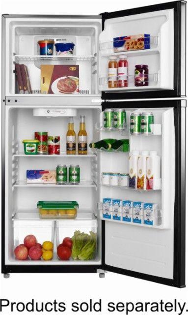 Insignia 9 Cu Ft Top Freezer Refrigerator Black Alt View Zoom 2
