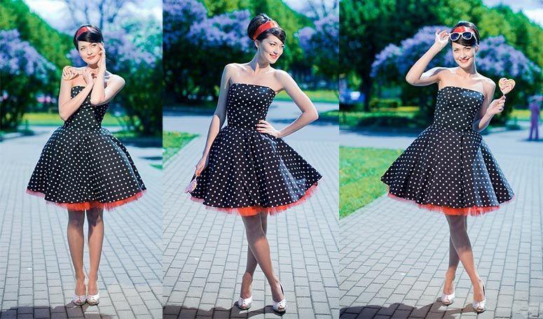Платье стиляги 50 60 годов