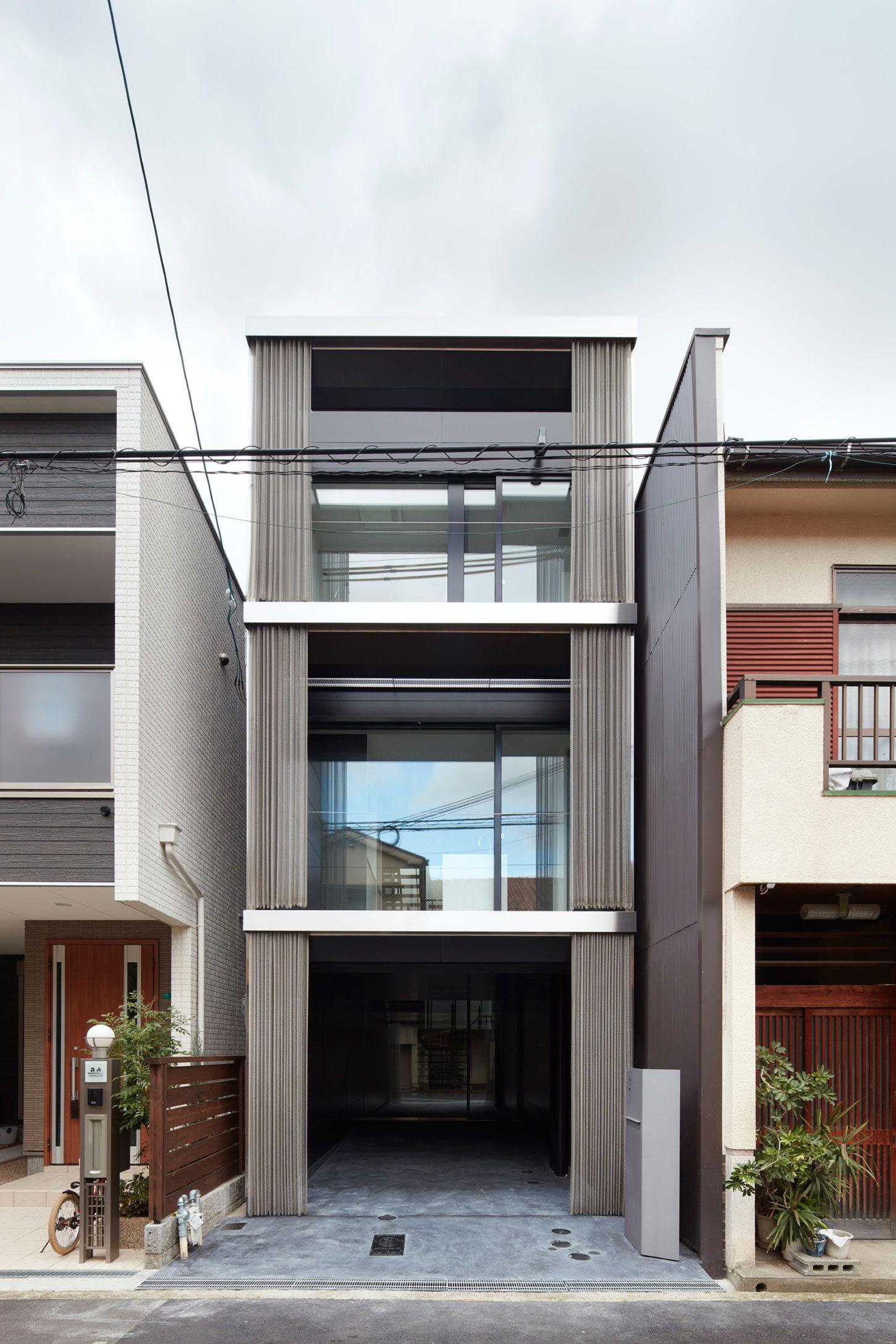 An ingenious vertical home honshu osaka japan minimalist architecture modern architecture house