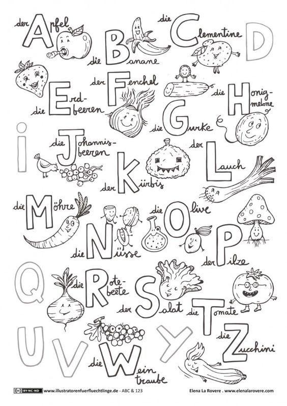 ABC und 123 - Obst und Gemüse ABC - La Rovere | Schule | Pinterest