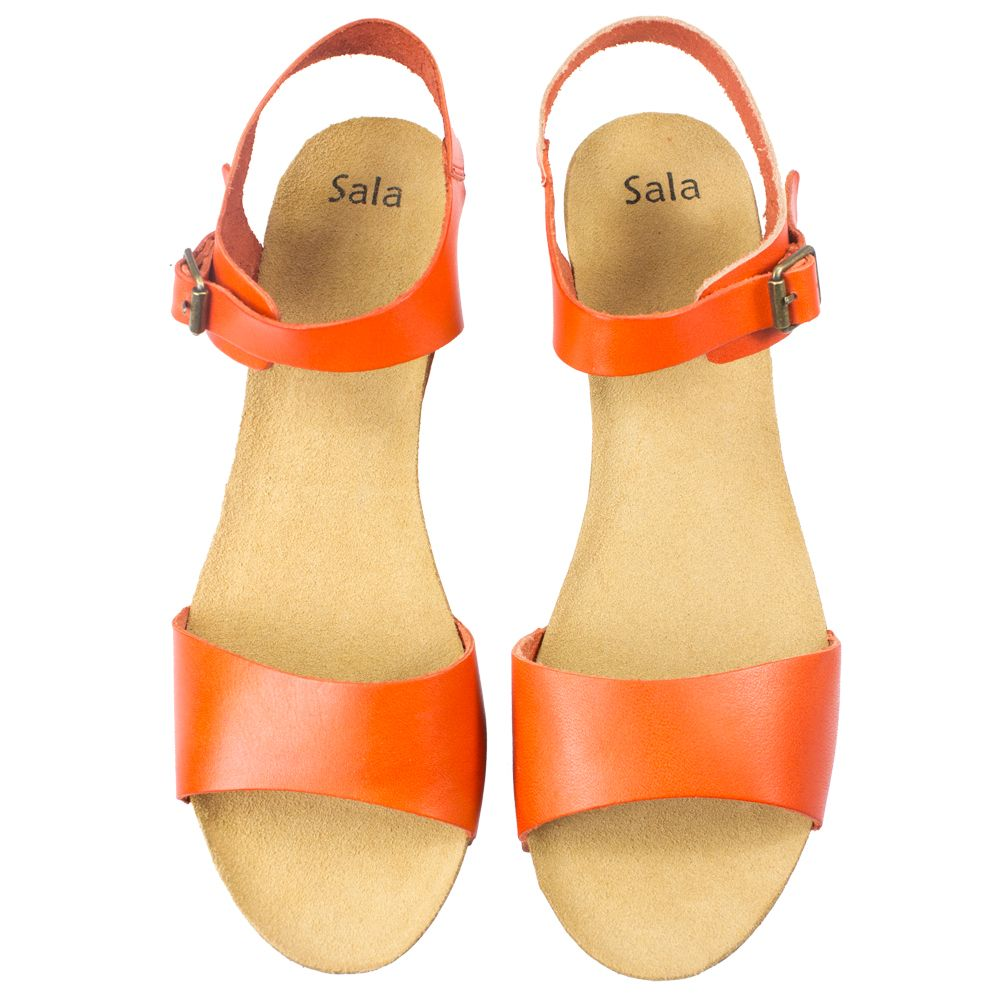 Rappa 2 | Orange | Womens Wedge Sandals