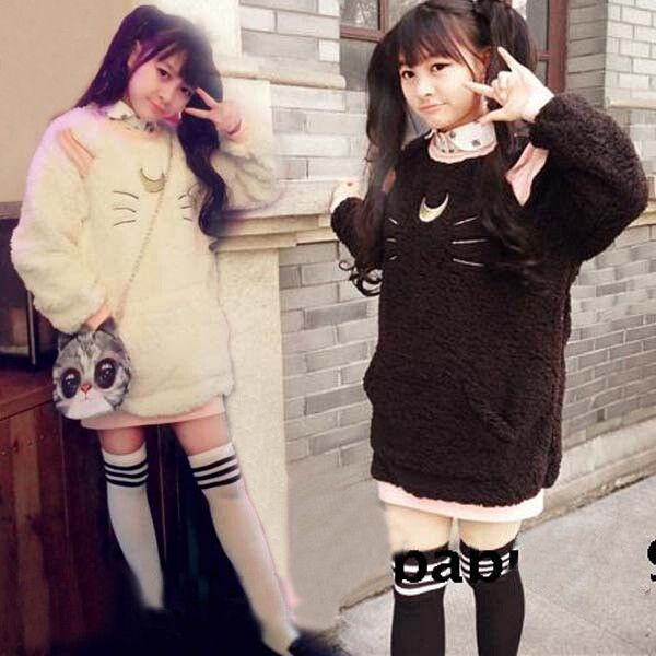 """Japanese anime sweet fleece pullover - Use the code """"batty"""" at Sanrense for a 10% discount!"""