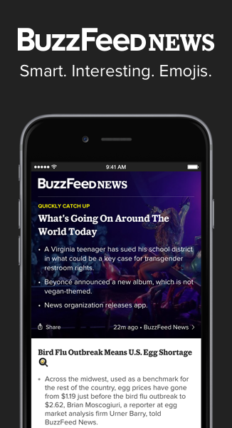 Smart. Interesting. Emojis. Download the BuzzFeed News app