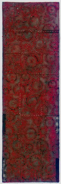 D-4.Jun.1998mixed media painting/94x30.5cm林孝彦 HAYASHI Takahiko 1998