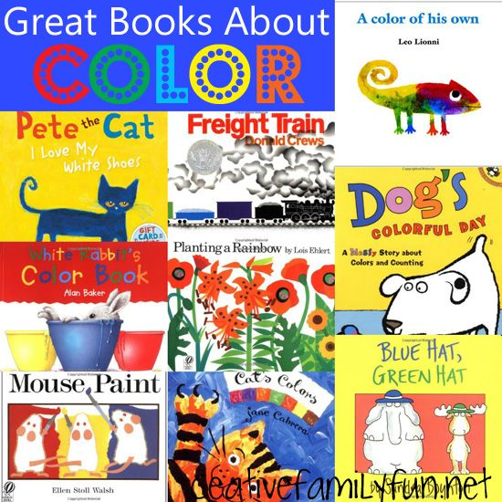 Story Time Great Books About Color Creative Family Fun Preschool Books Storytime Themes Coloring Books