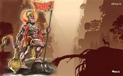 lord hanuman art with natural background hd wallpaper bajrangbali