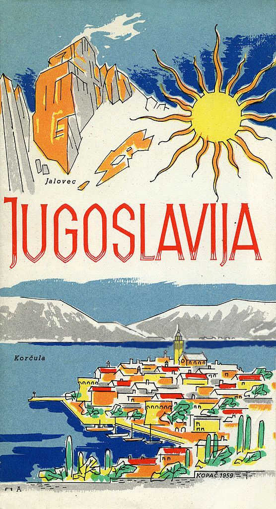 A Tourism Brochure For Yugoslavia By Kopac From 1959 Retro Travel Poster Vintage Postcards Travel Vintage Travel Posters