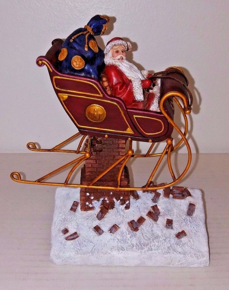 Ned Young Figurine Wit & Whimsy Santa Claus 2004 Lang & Wise Oops Crashed Sleigh #LangWise ...