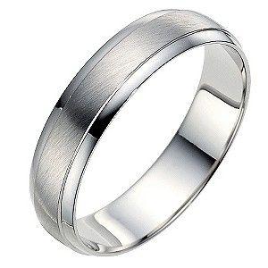 4deb9a6e1975d Palladium 950 5mm matt & polished ring | Weddings | Rings, Wedding ...