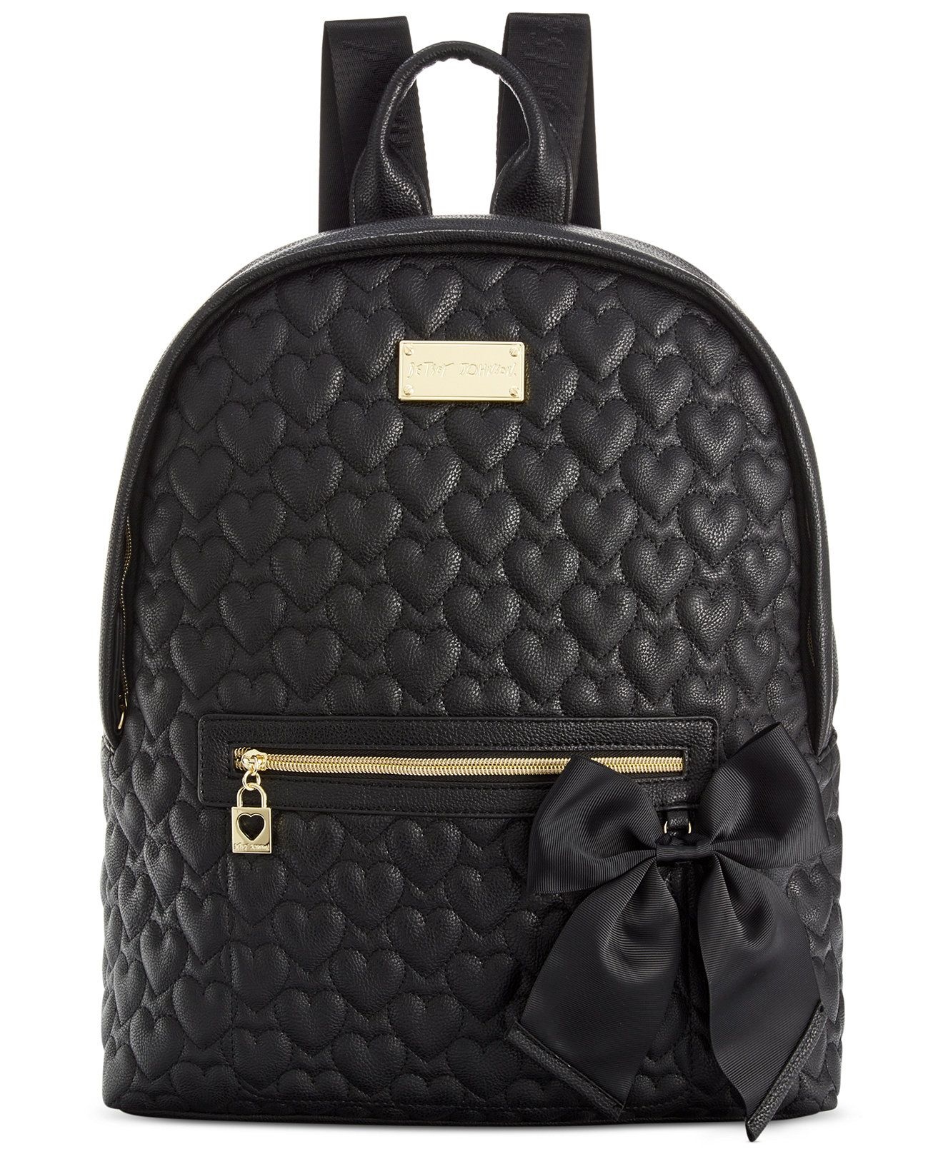Betsey Johnson Macy s Exclusive Quilted Backpack - Handbags   Accessories -  Macy s b46e3e3dd8069