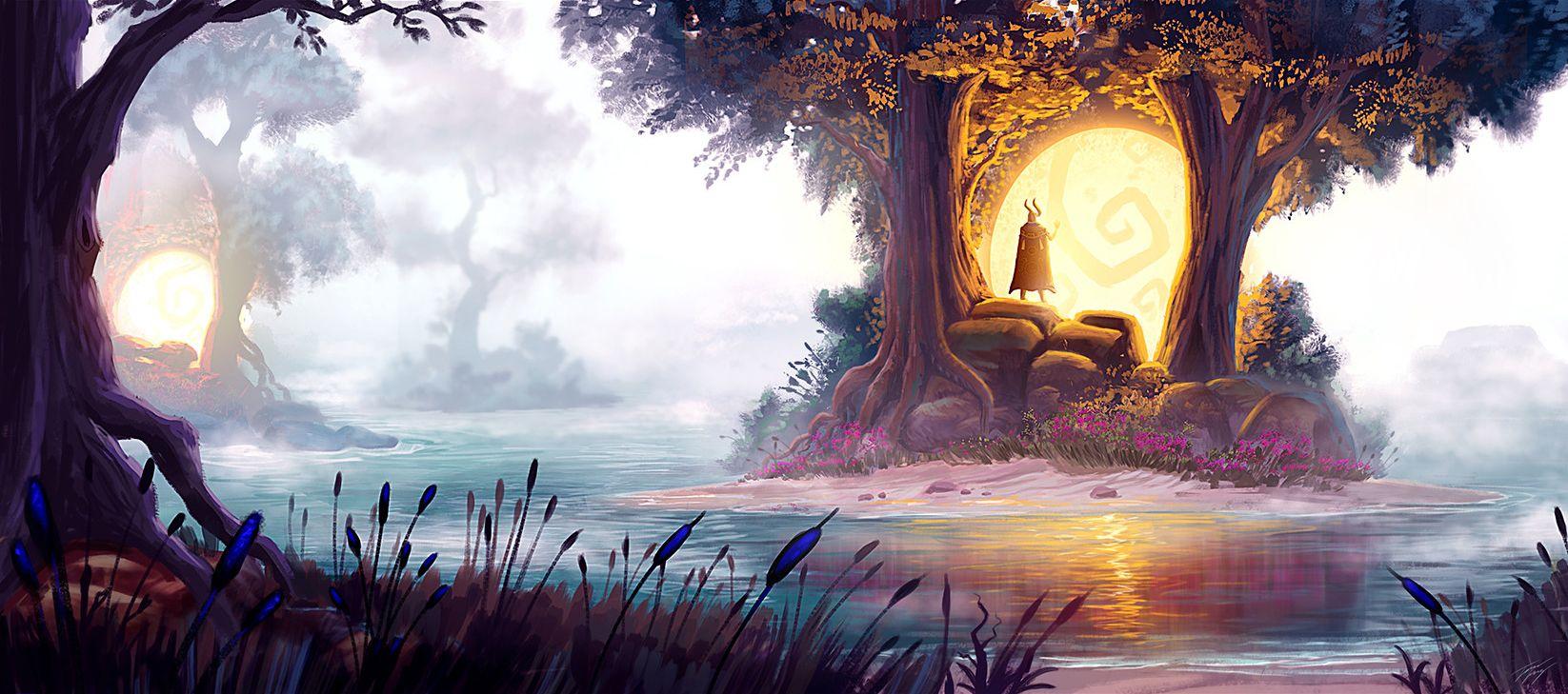 ArtStation - Gaia orbs, Travis Lacey | Fantasy landscape, Fantasy art landscapes, Digital art fantasy