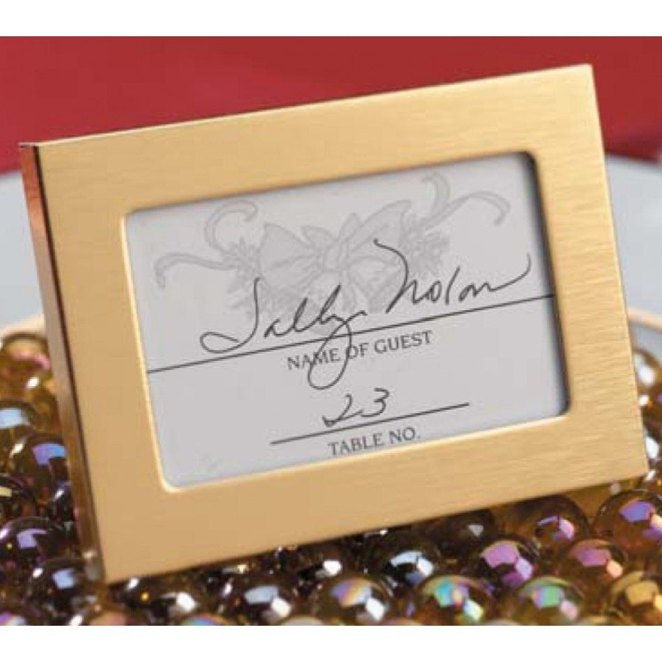 25 X 35 Gold Bridal Favor Photoplacecard Frames Box Of 24