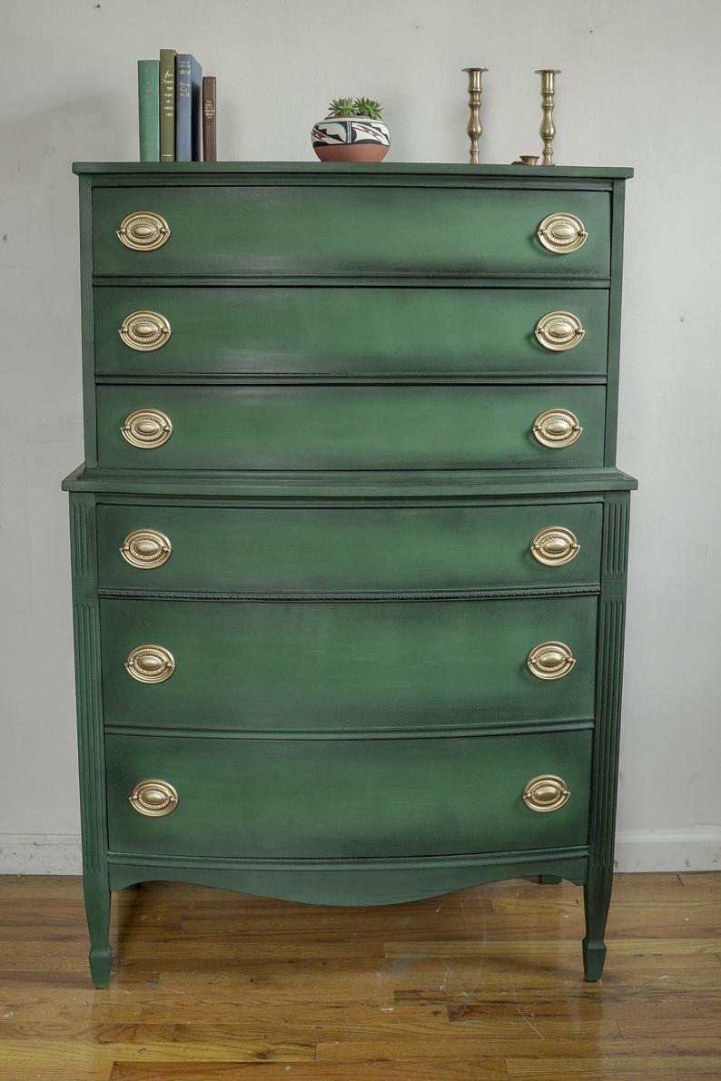 Green Antique Dresser Forest Green Chest Hunter Green Etsy Antique Dresser Green Chests Vintage Dressers [ 1191 x 794 Pixel ]