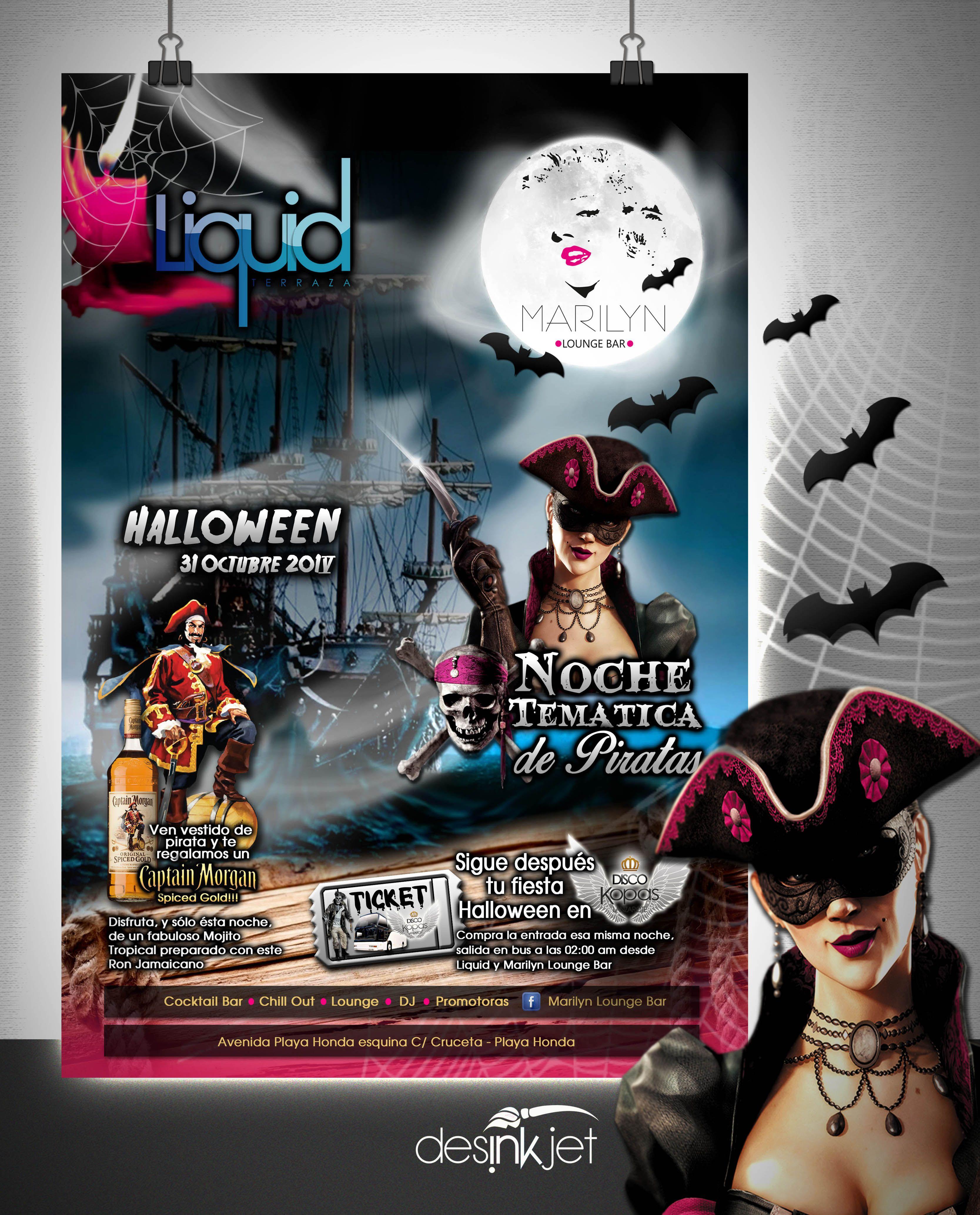 Diseño Fiesta De Halloween Cliente Marilyn Lounge Y