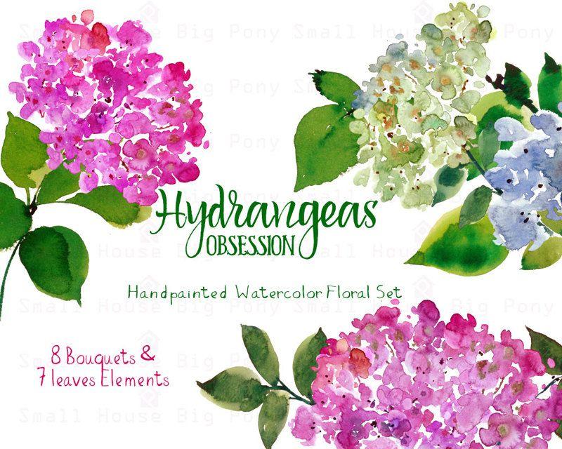 Hydrangea clipart flower bouquet #2 | Ink | Pinterest | Flower ...