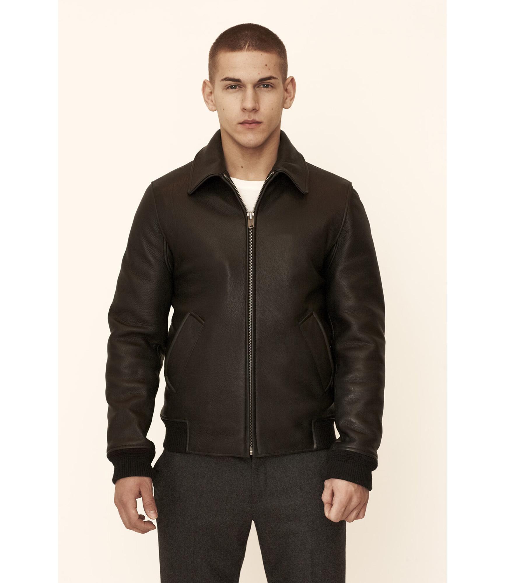 A P C Store Police Jacket Leather Jacket Black Jackets [ 2000 x 1732 Pixel ]