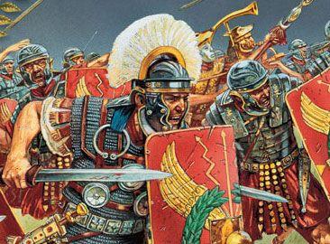 Centurion Leading His Troops Into Battle 1st Century Ce Con