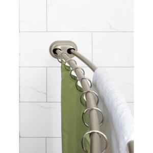 Zenna Home Neverrust 50 In 72 In Aluminum Adjustable Double