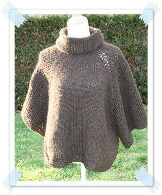 patron pour tricoter un poncho