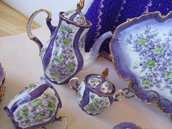 Handpainted Set Of 45 Pieces China All Pieces Signed By The Artist