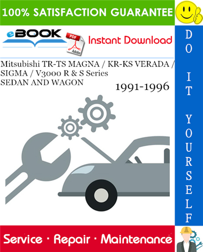 Mitsubishi Tr Ts Magna Kr Ks Verada Sigma V3000 R S Series Sedan And Wagon Service Repair Manual 1991 1996 Download P Mitsubishi Repair Manuals Sedan