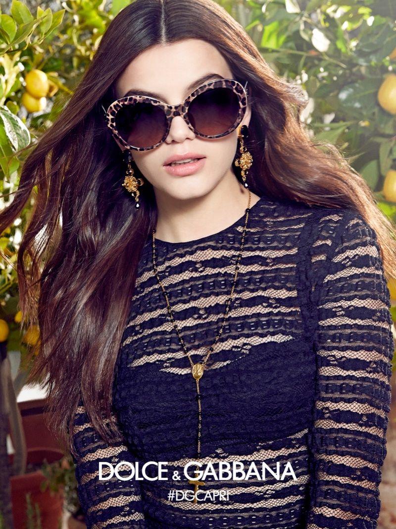 Sonia Ben Ammar stars in Dolce   Gabbana Eyewear s spring-summer 2017  campaign 2d783d330d5a