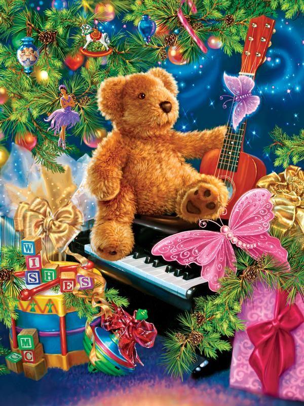Christmas Bear Wishes Pinterest Christmas jigsaw puzzles, Bears