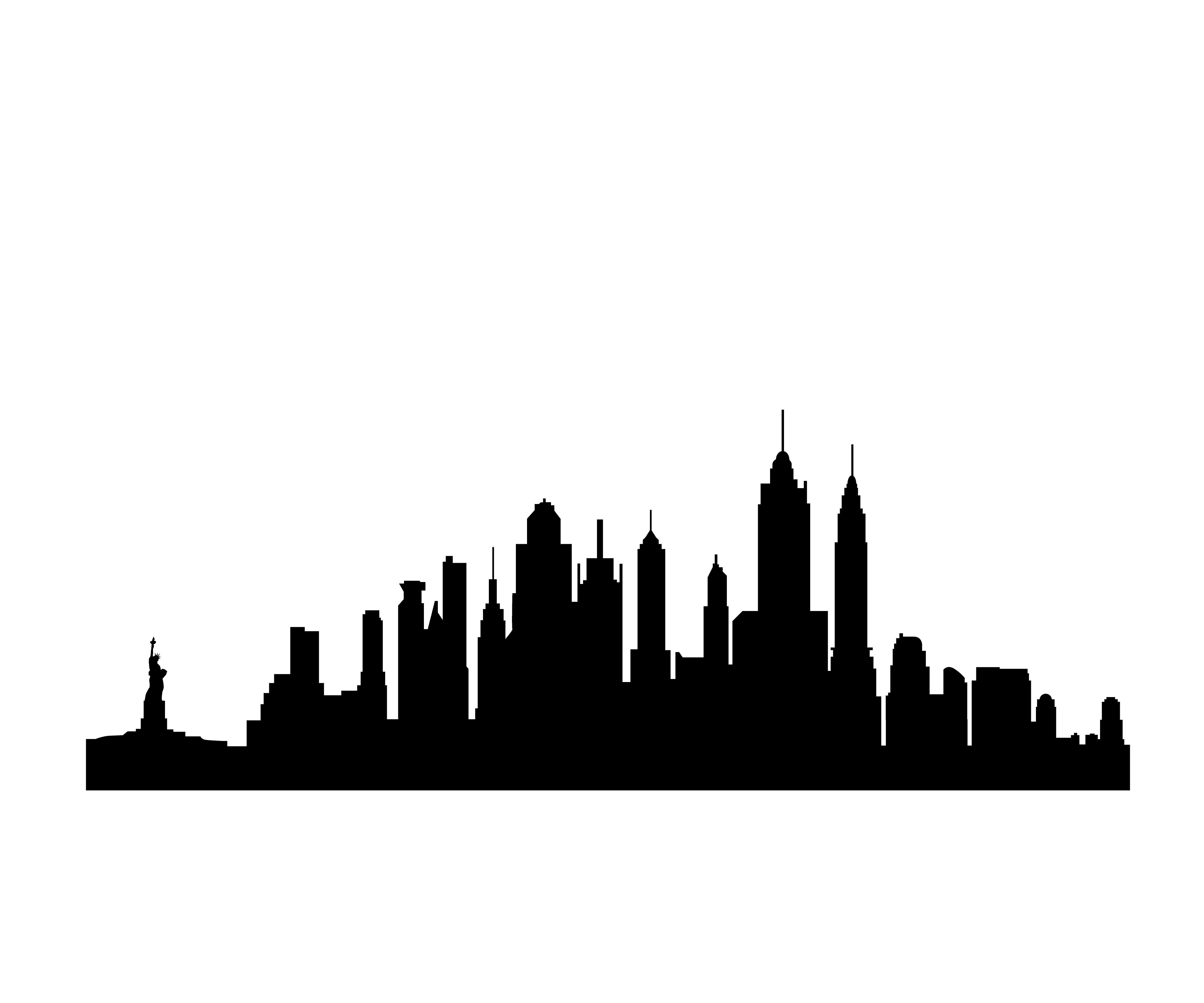 New York Skyline Silhouette - Vinyl Wall Art Decal for Homes ... - ClipArt