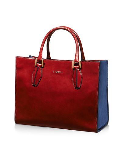 Tod S D Cube Ping Piccola Lucida E Venature A Vista Rosso Azzurro