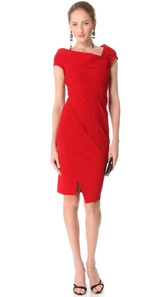 Donna Karan New York Sculpted Cap Sleeve Dress Dkany30036