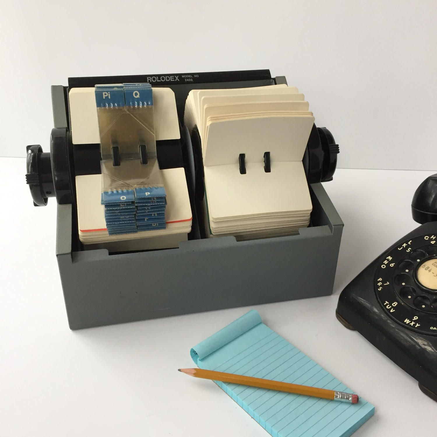 Huge Rolodex 2400 Vintage Double Rolodex Card File Rotary Card Filing System Blank Cards Alpha Dividers Business Contact File Rolodex Card Files Filing System