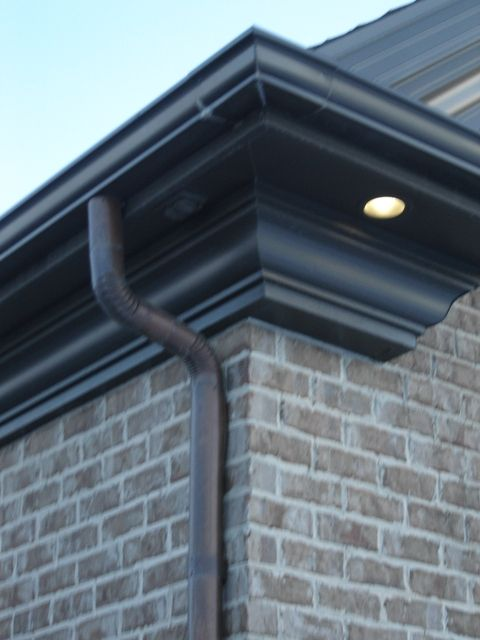 Royal Brown Half Round Gutter Google Search House Gutters Garden Jacuzzi Ideas Modern Roofing