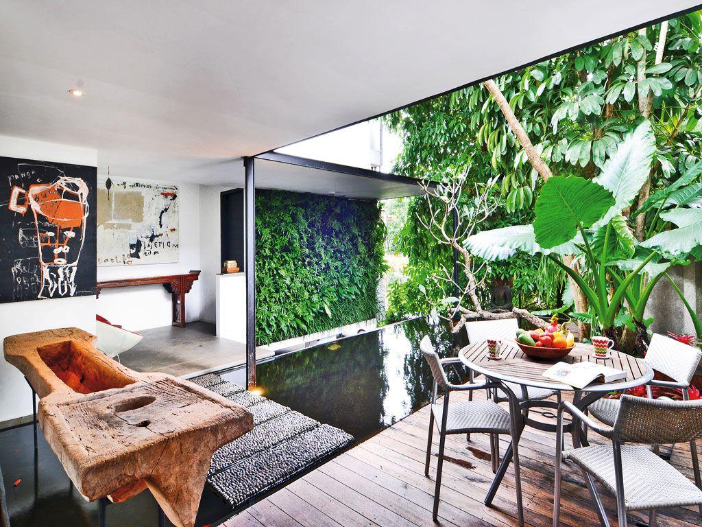 Dinding Penuh Tanaman Hijau Garden Pinterest