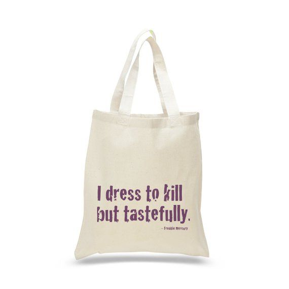 26aeb3add0c3 QUEEN BAND Tote, Freddie Mercury Quote, Queen Shoulder Bag, Best ...