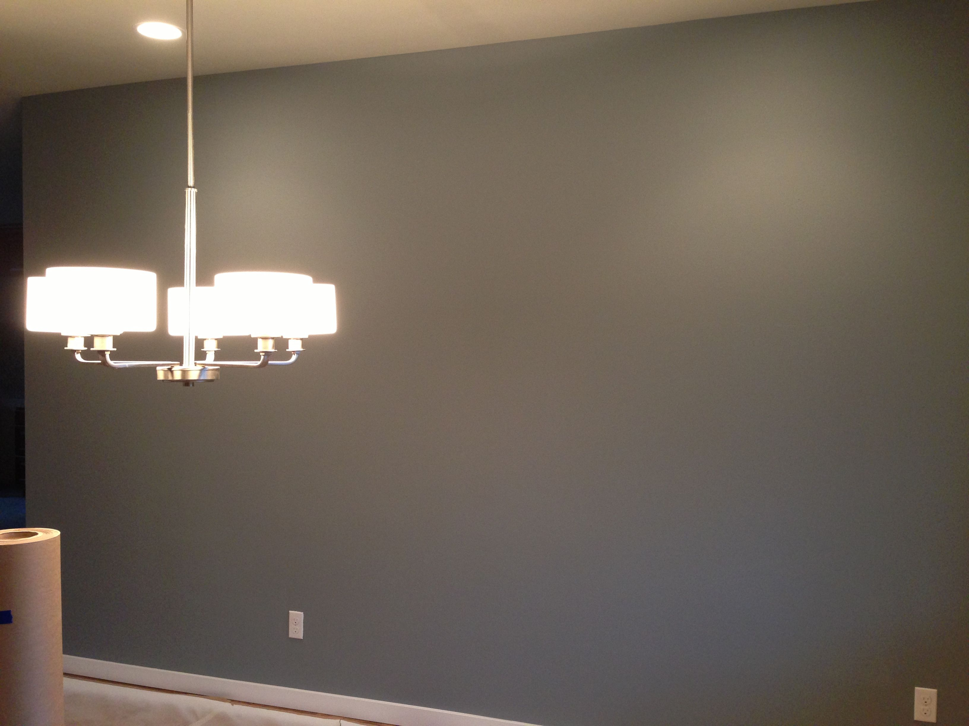 Dining Room Accent Wall SW 7664 Steely Gray